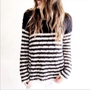 Free people French Creek open knit crochet sweater